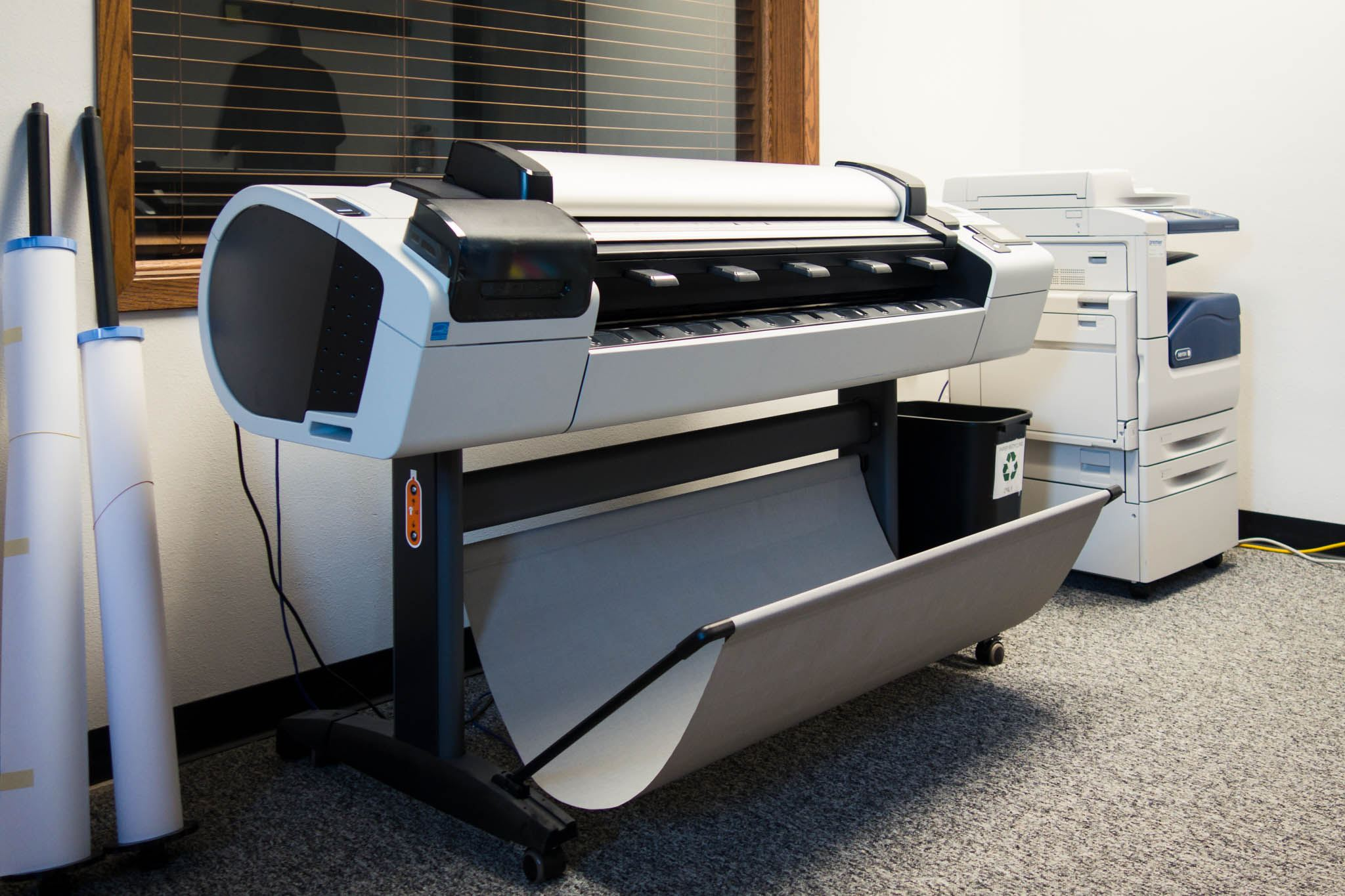 Hewlett Packard Designjet T2300ps plotter printer used for printing maps
